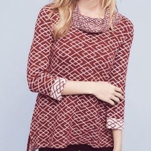Anthropologie Moth Galena Cowl Neck Sweater